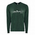 Next-Level-Unisex-Sueded-Long-Sleeve-T-Shirts_Heather-Forest-Green